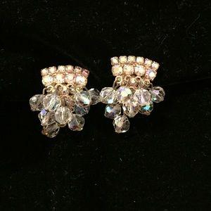 Spectacular Vintage Crystal Dangle Earrings